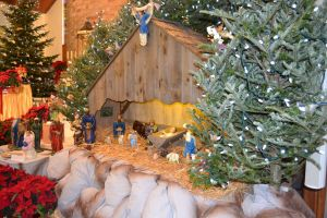 The nativity scene from another angle.